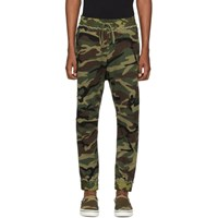 R 13 R13 Green Camo Harem Sweatpants