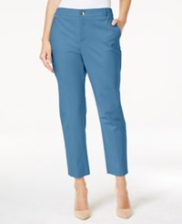 Charter Club Embellished Slim Fit Ankle Pants Only At Macy's Smokey Sky