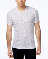 Alfani Red Men's Marled Print V Neck T Shirt Only At Macy's Bright White Combo