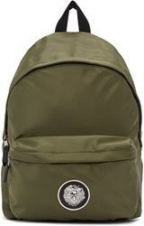 Versus Green Nylon Logo Backpack