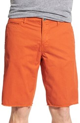 Original Paperbacks Men's 'St. Barts' Raw Edge Shorts Burnt Sienna