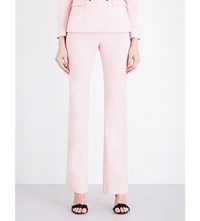 Altuzarra Serge Straight Stretch Wool Trousers Shell Pink