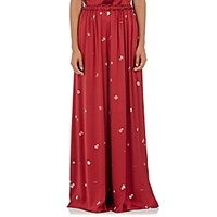 The Row Women's Paba Silk Satin Pants Red