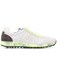Premiata Printed Sole Trainers Women Leather Suede Polyester Rubber 39 Grey