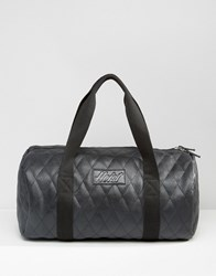 Heist Quilted Leather Look Duffle Bag Black