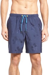 Tommy Bahama Men's Naples Palm Night Jacquard Swim Trunks Night Shadow