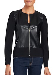 St. John Lamb Leather Jacket Black