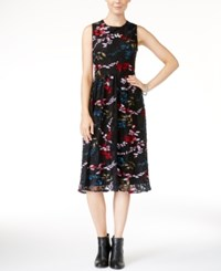 Lucky Brand Printed Lace Dress Black Multi