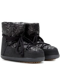 Inuikii Sequin Low Ankle Boots Black