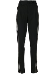 Saint Laurent Tailored Stripe Trousers Black