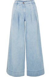 Ulla Johnson Emmit High Rise Wide Leg Jeans Light Denim