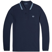 Fred Perry Long Sleeve Original Twin Tipped Polo Navy