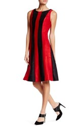 Eva Franco Stripe Paneled Sleeveless Dress Multi