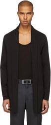 Attachment Black Long Cardigan