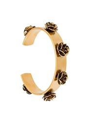 Marc Jacobs Flower Motif Cuff Metallic