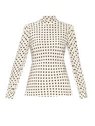 Red Valentino Polka Dot Print Silk Blouse