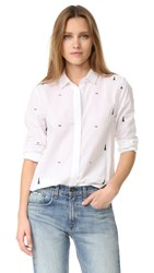 Equipment Leema Button Down Shirt Bright White Multi