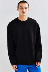 The Narrows Drop Shoulder Thermal Long Sleeve Tee Black