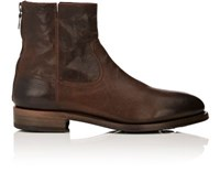 Project Twlv Men's Flame Leather Boots Dark Brown