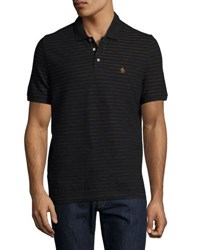 Original Penguin Jacquard Striped Polo Shirt Black
