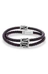 Garmin Men's Steve Madden Double Wrap Braided Leather Bracelet