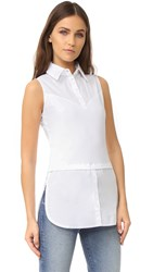 Skinnyshirt Sleeveless Shirt With Tails White