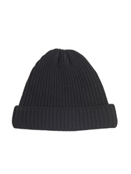 Acne Studios Miles Ribbed Knit Wool Beanie Hat