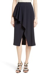 Ted Baker Women's London Daffnie Frill Front Asymmetrical Skirt