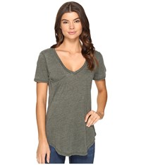 Culture Phit Adley Short Sleeve Tee With Pocket Olive Women's T Shirt