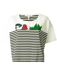 Marc Jacobs Julie Verhoeven Striped Print T Shirt White