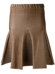 Maison Ullens Flared Skirt Brown