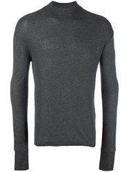 Diesel Black Gold High Neck Jumper Grey