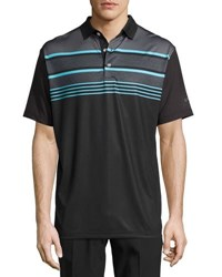 Callaway Roadmap Striped Polo Shirt Black