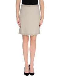 Laltramoda Knee Length Skirts Light Grey