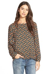 Women's Ace Delivery Print Gathered Back Top