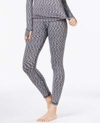 Cuddl Duds Flex Fit Long Legging White Black
