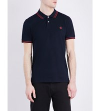Paul Smith Ps By Slim Fit Cotton Pique Polo Shirt Navy