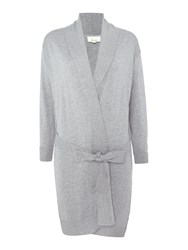 Linea Oxford Cashmere Blend Robe Grey