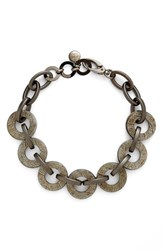 Women's Pono Resin Choker Necklace Pewter