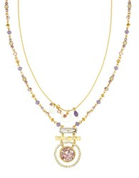 Lonna And Lilly Crystal Goldtone Pendant Necklace Purple