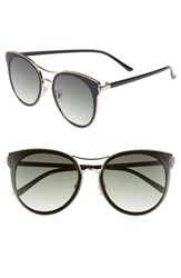 Leith 54Mm Double Frame Round Sunglasses Black Gold Black Gold