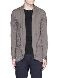 Attachment Shawl Collar Cotton Jersey Cardigan Grey