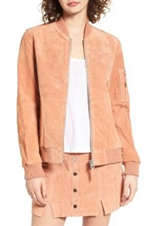 Obey Women's Nomadic Suede Bomber Jacket