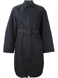 Jil Sander Navy Belted Trench Coat Blue