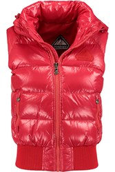 Pyrenex New Mythic Quilted Glossed Shell Down Gilet Red