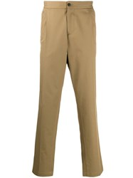Salvatore Ferragamo Double Pleat Chinos Neutrals