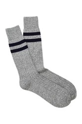 Gant Striped Trim Socks Gray