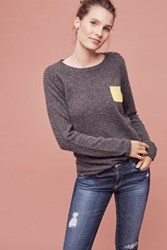 Anthropologie Cashmere Pocket Pullover Dark Grey