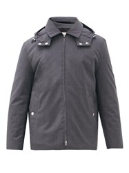 Mackintosh Dunnet Down Filled Hooded Wool Jacket Grey