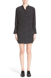 Grey Jason Wu Women's Mini Polka Dot Silk Shirt Dress